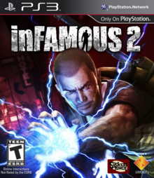 InFamous 2 2011 Game Cover