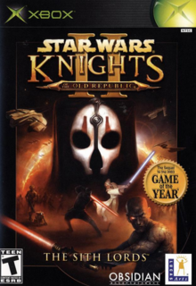 Star Wars Knights of the Old Republic II The Sith Lords 2004 Game Cover