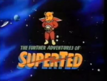 The Further Adventures of SuperTed 1989 Title Card