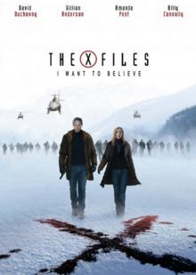 The X-Files I Want to Believe 2008 DVD Cover