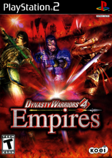 Dynasty Warriors 4 Empires 2004 Game Cover