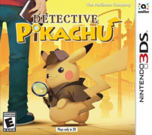 Detective Pikachu 2018 Game Cover