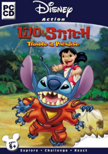 Disney's Lilo & Stitch Trouble in Paradise 2002 Game Cover