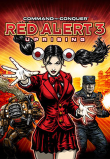Command & Conquer Red Alert 3 Uprising 2009 Game Cover