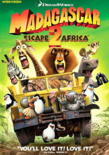 Madagascar Escape 2 Africa 2008 DVD Cover