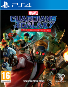 Marvel Guardians of the Galaxy The Telltale Series 2017 Game Cover