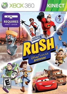 Kinect Rush A Disney Pixar Adventure 2012 Game Cover