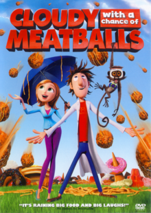 Cloudy with a Chance of Meatballs 2009 DVD Cover