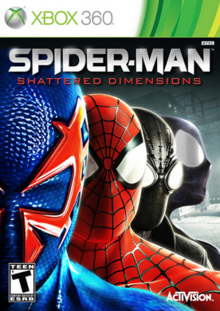 Spider-Man Shattered Dimensions 2010 Game Cover