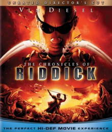 The Chronicles of Riddick 2004 BLU-RAY Cover