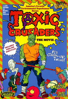 Toxic Crusaders 1990 DVD Cover