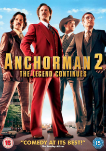 Anchorman 2 The Legend Continues 2013 DVD Cover
