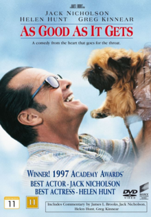 As Good As It Gets 1997 DVD Cover