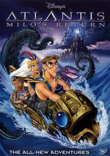 Disney's Atlantis Milo's Return 2003 DVD Cover
