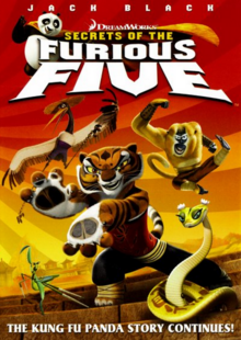 DreamWorks Secrets of the Furious Five 2009 DVD Cover