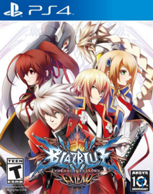 BlazBlue Chronophantasma Extend 2015 Game Cover