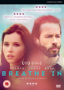 Breathe In 2013 DVD Cover