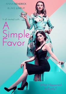 A Simple Favor 2018 DVD Cover