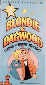 Blondie & Dagwood Second Wedding Workout 1989 VHS Cover