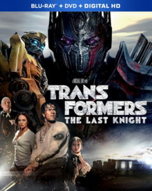 Transformers The Last Knight 2017 Blu-Ray DVD Cover