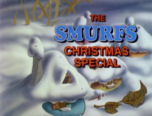 The Smurfs Christmas Special 1982 Title Card