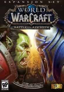 World of Warcraft Battle for Azeroth 2018 Game Cover