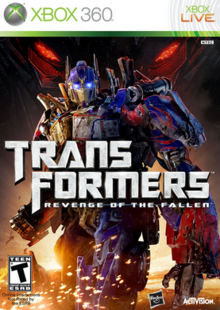 Transformers Revenge of the Fallen 2009 Game Cover