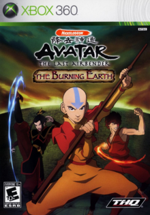Avatar The Last Airbender The Burning Earth 2007 Game Cover