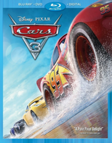 Cars 3 2017 Blu-Ray DVD Cover