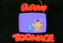 Disney's Raw Toonage 1992 Title Card