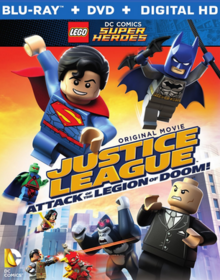 Lego DC Comics Super Heroes Justice League Attack of the Legion of Doom 2015 BLU-RAY Cover