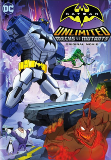 Batman Unlimited Mech vs Mutants 2016 DVD Cover