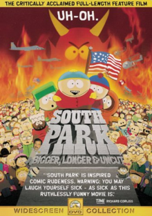 South Park Bigger, Longer & Uncut 1999 DVD Cover