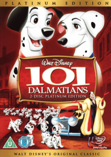 One Hundred and One Dalmatians 1961 DVD Cover