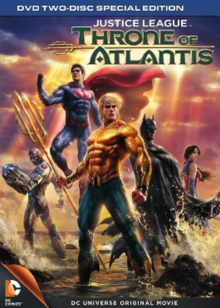 Justice League Throne of Atlantis 2015 DVD Cover