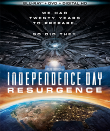 Independence Day Resurgence 2016 Blu-Ray DVD Cover