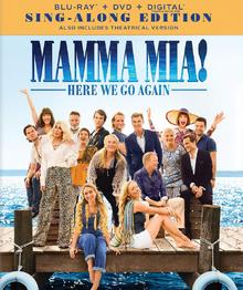 Mamma Mia! Here We Go Again 2018 Blu-Ray DVD Cover