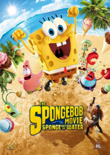 The SpongeBob Movie Sponge Out of Water 2015 DVD Cover