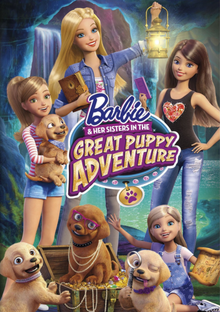 Barbie & Her Sisters in the Great Puppy Adventure 2015 DVD Cover