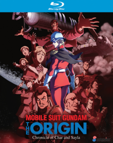 Mobile Suit Gundam The Origin 2015 Blu-Ray Cover