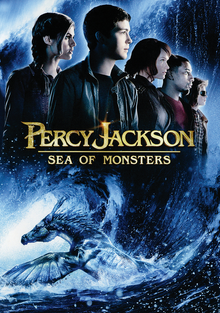 Percy Jackson Sea of Monsters 2013 DVD Cover