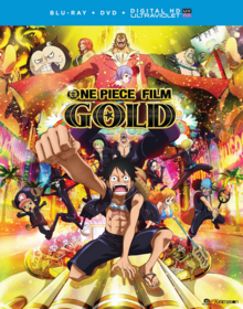 One Piece Film Gold 2017 Blu-Ray DVD Cover