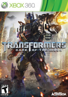 Transformers Dark of the Moon 2011 Game Cover