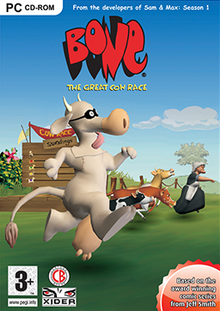 Bone The Great Cow Race 2006 Game Cover