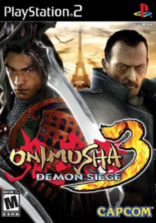 Onimusha 3 Demon Siege 2004 Game Cover