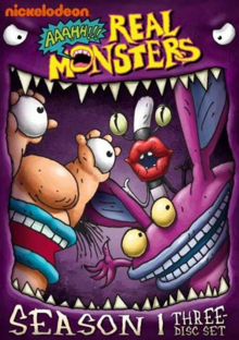 Aaahh!!! Real Monsters 1994 DVD Cover