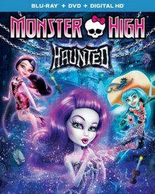 Monster High Haunted 2015 Blu-Ray DVD Cover