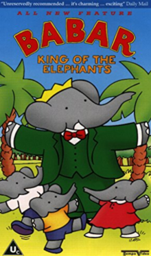 Babar King of the Elephants 1999 VHS Cover