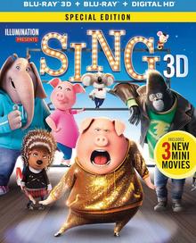 Sing 2016 Blu-Ray DVD Cover