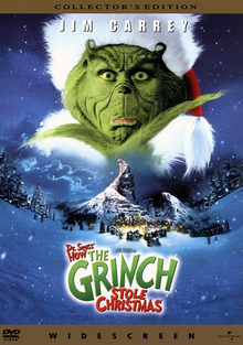 Dr. Seuss' How the Grinch Stole Christmas 2000 DVD Cover